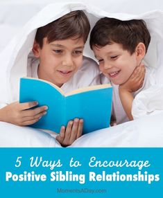 5 easy ways to encourage positive relationships between your kids