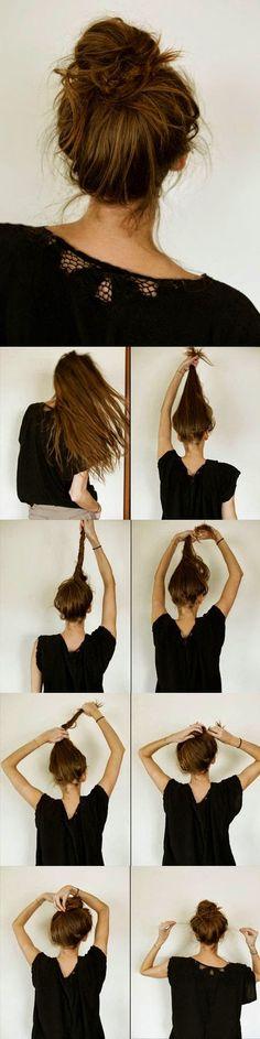 Hair - Haare #EasyMessyHairstyles