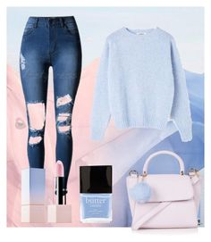 """blue serenity and rose quartz"" by daykay ❤ liked on Polyvore featuring Topshop, Sephora Collection, YMC, Butter London, women's clothing, women's fashion, women, female, woman and misses"