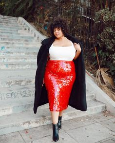 Walkin into the holidays like ✨✨✨ who else is already playing Xmas music 👀🙋🏽♀️ I got this sparkly look from site! Holiday Dresses, Winter Dresses, Holiday Outfits, Winter Outfits, Holiday Fashion, Date Outfits, Night Outfits, Modelos Plus Size, Valentines Outfits