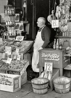 November 1939. Waco, Texas. Proprietor of small store in market square.
