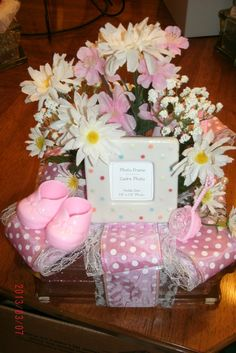 Newborn Baby Girl Pink Shower Nitelight By CraftsbyDebbieLea, $29.50. SOLD