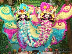 Sri Sri Gaura Nitai Wallpaper Iskcon Vrindavan, Floral Decorations, Laddu Gopal, Krishna Wallpaper, Hare Krishna, Flower Dresses, Temples, God, Flowers