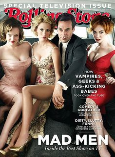 The cover of Rolling Stone featuring Mad Men's Elisabeth Moss, January Jones, Jon Hamm & Christina Hendricks was photographed in Bigbox at SMASHBOX by photographer Robert Trachtenberg.