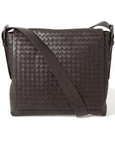 Bottega Veneta Intercciato Leather Crossbody.