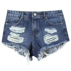 Short jeans ripped Animale