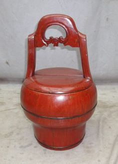 Chinese lacquer wedding basket (love the colors)