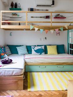 Boy's room decor – Furnitur Home Room Design, Kids Room Design, Boys Room Decor, Boy Room, Brothers Room, Toddler Rooms, Girl Bedroom Designs, Kids Bedroom Furniture, Big Girl Rooms