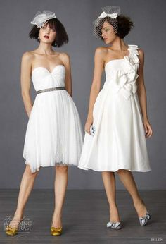 Short ceremony and reception dresses!