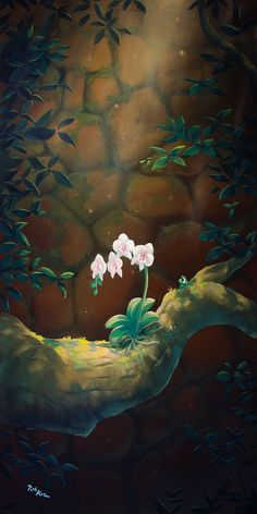 Rob Kaz - Plumeria - signed and numbered limited edition print on canvas