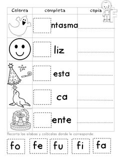 My Syllables Booklet - Educational Images - My Syllables Booklet – Educational Images - Spanish Lessons For Kids, Spanish Teaching Resources, Teaching Materials, Elementary Spanish, Spanish Classroom, Preschool Worksheets, Preschool Activities, Bilingual Education, Rhyming Words