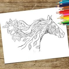 Free Horse Coloring Page for grown ups. Download and Print Adult Coloring Page. New Horse Coloring Book coming out soon! http://freehorsepage.instapage.com/