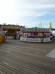 More rides. It's like the Easter Show squished into a small space. All on Brighton Pier.
