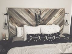 Wood Pallet Headboards Etsy Reclaimed Wood Pallet Wood Geometric Boho Rustic Industrial Weathered Bedroom Bed DIY - Visit the post for more. Bedroom Bed, Bedroom Decor, Large Bedroom, Small Bedrooms, Bedroom Ideas, Master Bedroom, Wall Decor, Reclaimed Wood Headboard, Diy Rustic Headboard