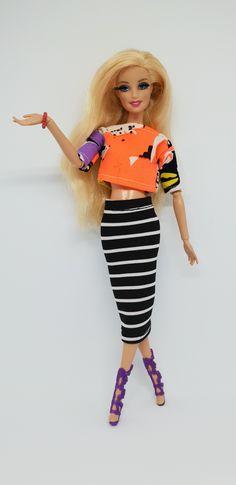 NEW Barbie Stylin Friends Style Glam Raquelle Doll Black Handbag Tote Bag Purse
