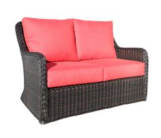 Hampton Bay Woodbury All Weather Wicker Outdoor Patio Loveseat With Chili  Cushion | Back Patio | Pinterest | Patios, Weather And Cozy