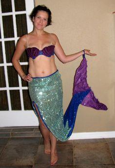 Adult Sequined Mermaid Halloween Costume