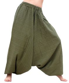 Mens Japanese Style Pants One Size Brown Tradition Stone Design