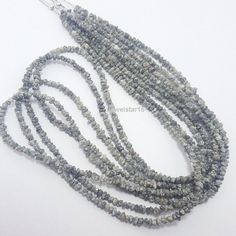 Strand of Natural Diamond Faceted Rondellel Beads. This Natural Diamond Rondelle Beads 2-3mm. The Strand is 16 Inches Long and holds Beads.   Diamond