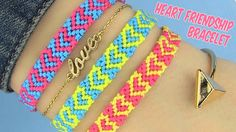 DIY Heart Friendship Bracelets (+плейлист) Music used in This Video and more tracks you can Find here: http://stockmusicclouds.com/ or follow twitter https://twitter.com/antarcticbreeze