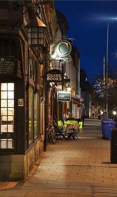 South Street at Dusk St Andrews Fife Scotland - beautiful town! Fife Scotland, Places In Scotland, England And Scotland, Scotland Travel, Cities, Voyage Europe, British Isles, Northern Ireland, St Andrews