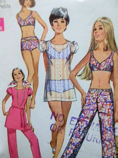 Vintage Simplicity 8804 Sewing Pattern, 1970s Swimsuit Pattern, PETITE SIZE, Hip Huggers, Mini Dress, 1970s Sewing Pattern, Bust 33 by sewbettyanddot on Etsy