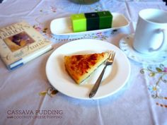 Cassava Pudding with Coconut Cheese Topping