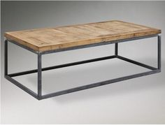 Beau Industrial Metal Frame With Wood Top