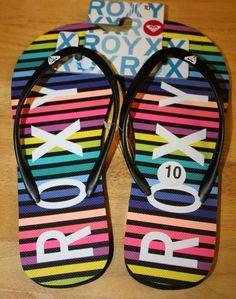 9d999dadefc Striped Sandals   Flip Flops for Women US Size 10