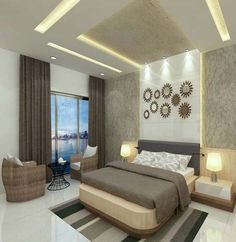 Luxury Bedroom with elements and fittings Interior architect