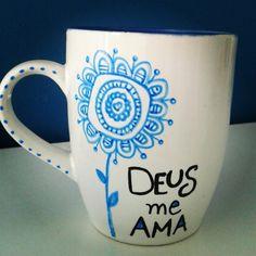 #mug caneca pintada à mão
