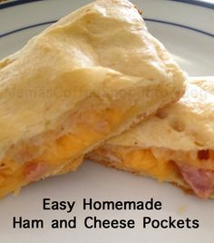 Easy Homemade Ham and Cheese Pockets {Knock-Off Recipe for Hot Pockets ...