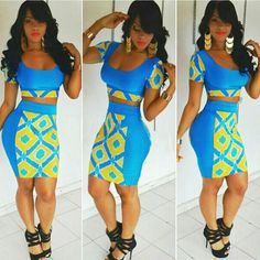 Two Pieces Club Bandage Top and Skirt Dress Suit Set