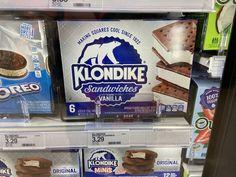 Klondike Bar, Oreo, Vanilla, The Originals, Yogurt