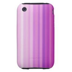 Purple Shades Pattern iPhone 3 Tough Cover