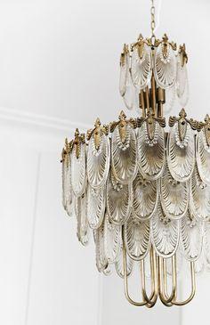 A Japanese Art Deco chandelier