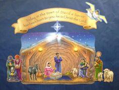 Nativity and the Magi Visit Bulletin Board Set - beautiful on a dark blue background !