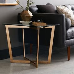 Cross-Base Side Table #westelm