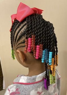 Young Girls Hairstyles, Little Girl Braid Hairstyles, Natural Braided Hairstyles, Black Kids Hairstyles, Little Girl Braids, Baby Girl Hairstyles, Braids For Kids, Toddler Hairstyles, Beautiful Hairstyles