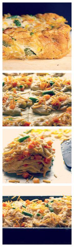Ultimate Comfort Food: Chicken Pot Pie Crescent Bake!