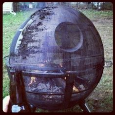 I want a fire pit for the back yard, something tells me this is what my husband has in mind.