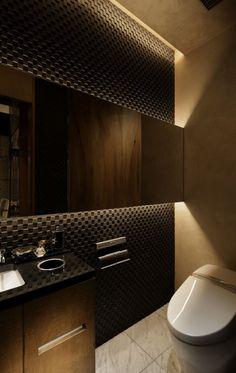 bad modern gestalten mit licht und 3d wandpaneel schwarz