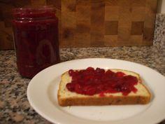 Cranberry-orange jelly : Santa's belly, Cranberry orange jelly.