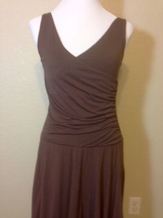 Vintage Dark Brown Knit Dress by Gap Stretch SleevelessV Neck with Fitted Bodice and Full Skirt, Ladies Small by Oldtonewjewels on Etsy