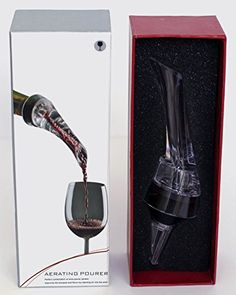 Mr Boutique In Bottle Wine Aerator Pourer Stopper  Essential Sleek Aerating Decanting Pouring Tool for Red and White Wine Clear >>> Read more reviews of the product by visiting the link on the image.