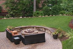 Outdoor Fire Pit Landscaping Designs | Earthworks Landscape Design | Hardscapes, Fences, Landscaping, Outdoor ...
