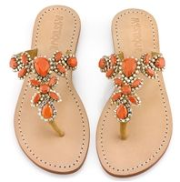 Mystique Sandals features unique hand crafted leather women's sandals that are embellished with jewelry Coral Sandals, Cute Sandals, Palm Beach Sandals, Flat Sandals, Summer Sandals, Mystique Sandals, Jeweled Sandals, Whimsical Fashion, Embellished Sandals