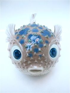 Real(Mislabeled) - Little Lladro puffer fish - This is not a real fish. This is a ceramic figurine.