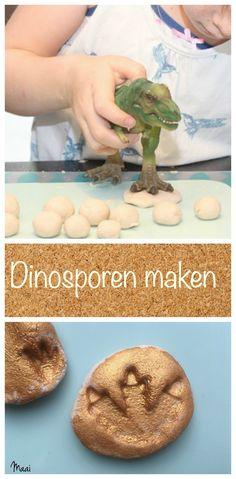 Dinosaurussporen maken - diy fossielen maken - knutselen met zoutdeeg