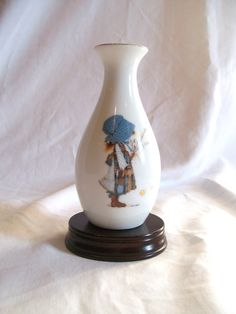 Vintage Holly Hobbie Vase by jclairep on Etsy, $12.00